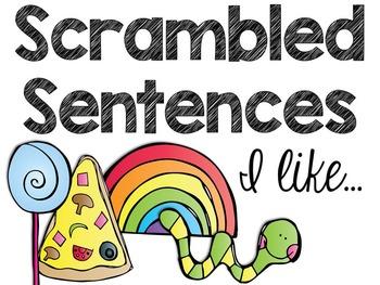 Scrambled Sentences: I Like...