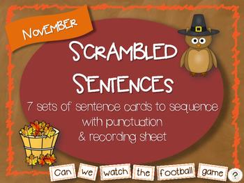 Scrambled Sentences - November