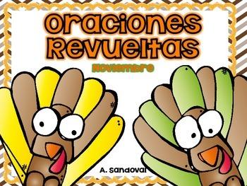 Scrambled Sentences November in SPANISH