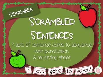 Scrambled Sentences - September