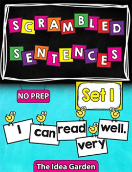 Scrambled Sentences -  Set 1 - NO PREP