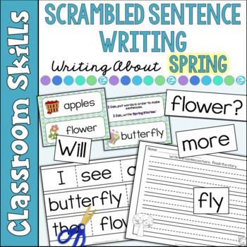 Scrambled Sentences: Writing Spring Stories