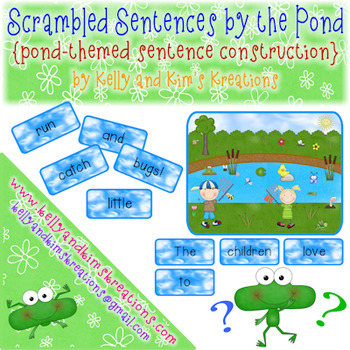 Scrambled Sentences by the Pond {pond-themed sentence cons