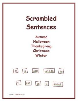 Scrambled Sentences - Fall, Halloween, Thanksgiving, Chris