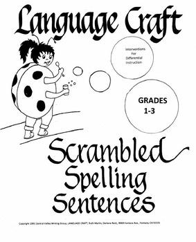 Scrambled Spelling Sentences Grades 1-3