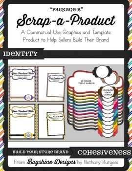 Scrap-A-Product CU Template and Graphics {Package B}