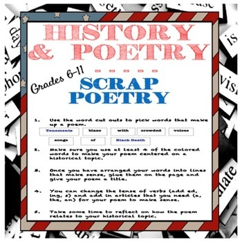 Scrap Poetry:  Learning Historical Vocabulary With Poetry