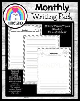 Scrapbook FREEBIE: Monthly Writing Pack