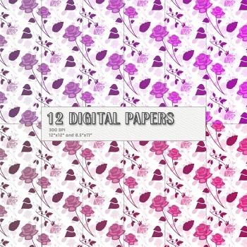 Scrapbook Paper 12 X 12 8 5 X 11 Digital Celebration Event