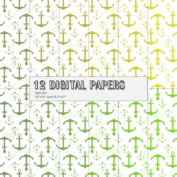 Scrapbook Paper Cover Maritime Graphics Set Lot Surprise S