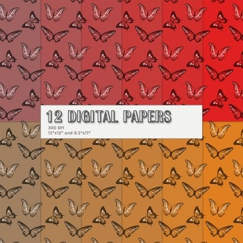 Scrapbook Paper Digital Decorative Nature Animals Scrapboo