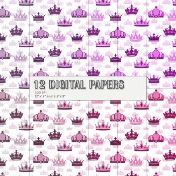 Scrapbook Paper Emperor Pattern Template Sheet Book Card B