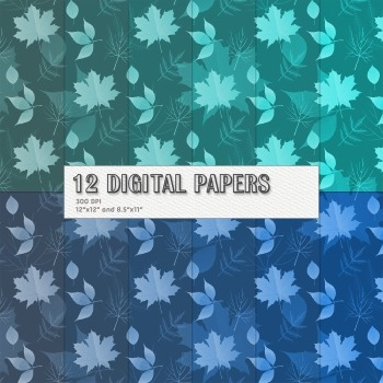 Scrapbook Paper Jpeg Leaf Event Scrapbooking Paper Digital