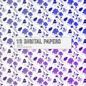 Scrapbook Paper Layout Pack Birthday Kit Paper Sheet Print