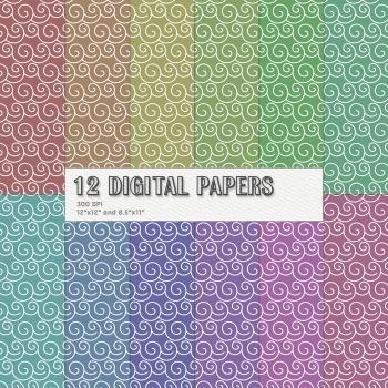 Scrapbook Paper Printable Celebrate Collag Supplie Layout