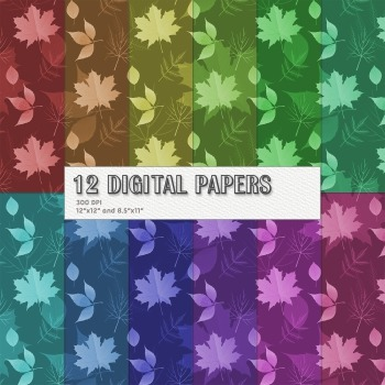Scrapbook Paper Seamless Book Page Leaf Birthday Instant D