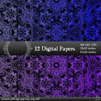 Scrapbook Pattern Pack Scrapbooking Scrap Book Fabric Supp