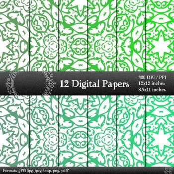 Scrapbook Vintage Art Kit Scrapbook Digital Texture Clip J
