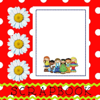 Scrapbook - Yearbook Cover Page: Hippy Kids