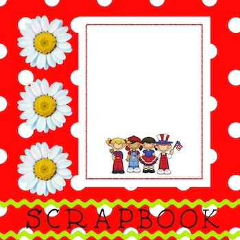 Scrapbook - Yearbook Cover Page: Patriot Kids