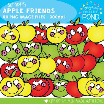 Apple - Scrappy Apple Friends Clipart