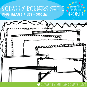 Scrappy Borders - Graphics From the Pond