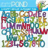 Scrappy Bright Alphabet Fun Set {Clipart}
