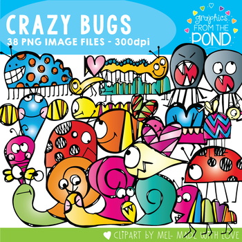 Scrappy Crazy Bugs - Clipart for Teachers and Teaching