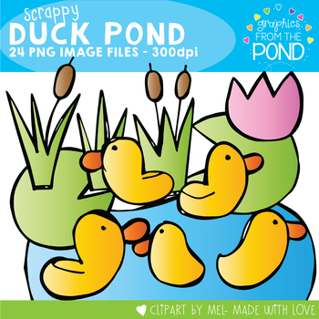 Scrappy Duck Pond -  Clipart for Teaching Resources