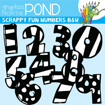 Scrappy Fun Numbers -Black and White Edition