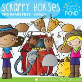 Scrappy Horses Clipart