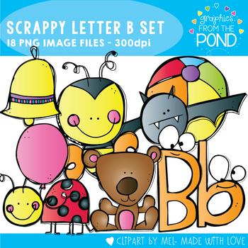 Scrappy Letter B Clipart