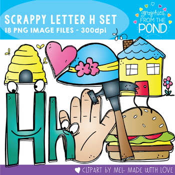 Scrappy Letter H Clipart