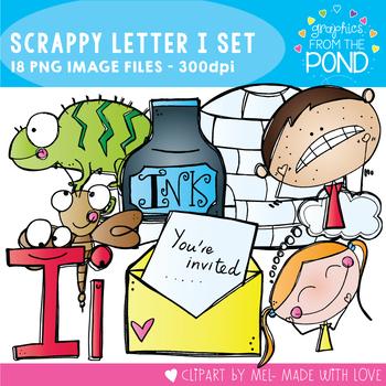 Scrappy Letter I Clipart