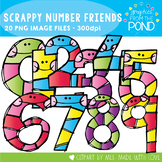 Scrappy Number Friends - Clipart for Teachers and Teaching