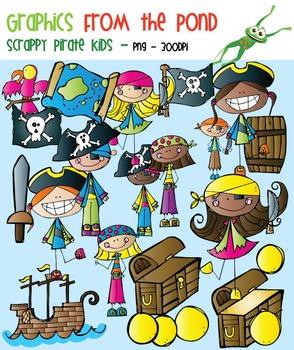 Scrappy Pirate Kids Clipart