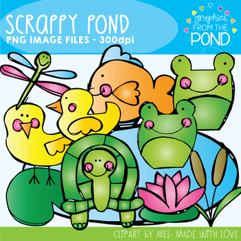 Scrappy Pond Clipart - Scrappy Graphics From the Pond