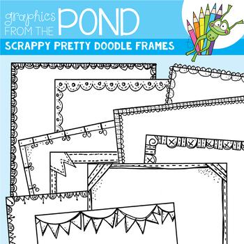 Scrappy Pretty Doodle Frames - Clipart for Teachers