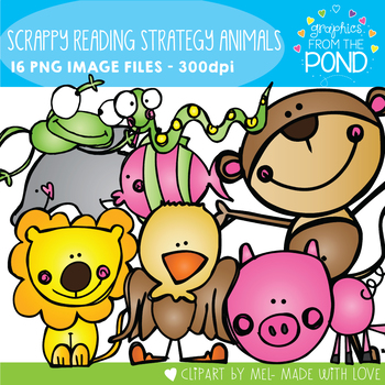 Scrappy Reading Strategy Animals