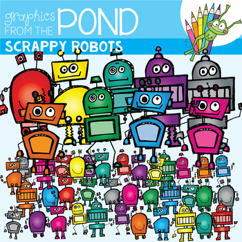Scrappy Robots - Clipart - Graphics From the Pond