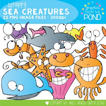 Scrappy Sea Creatures