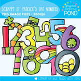 Scrappy St Patrick's Day Numbers Clipart
