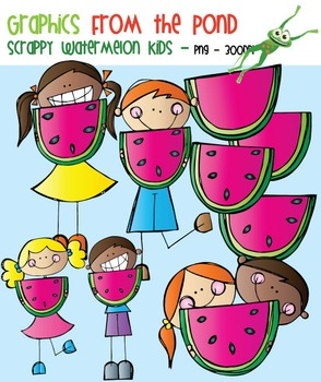 Scrappy Watermelon Kids Clipart