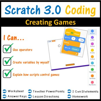 Scratch Programming - Lesson 5 Creating Scratch Games
