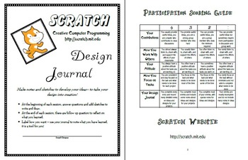 Scratch Creative Computer Programming & Coding Design Journal