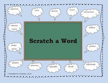 Scratch a Word (Grammar and Parts of Speech Game)