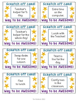 Scratch off cards- Way to be awesome!