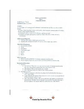 Screws Lesson Plan & Lab Sheet