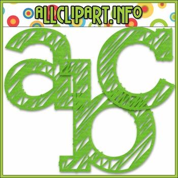Scribble Alphas (Green)