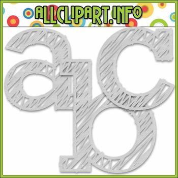 Scribble Alphas (White)